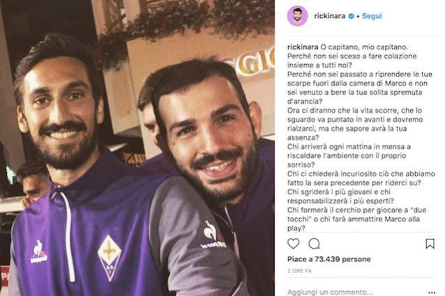 Morto Davide Astor capitano  della Fiorentina