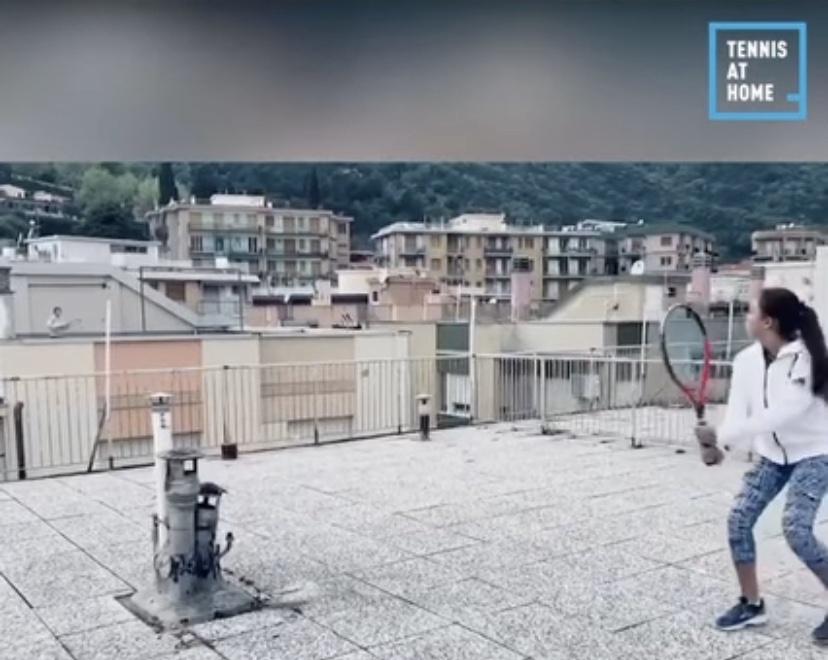 tennis sui tetti