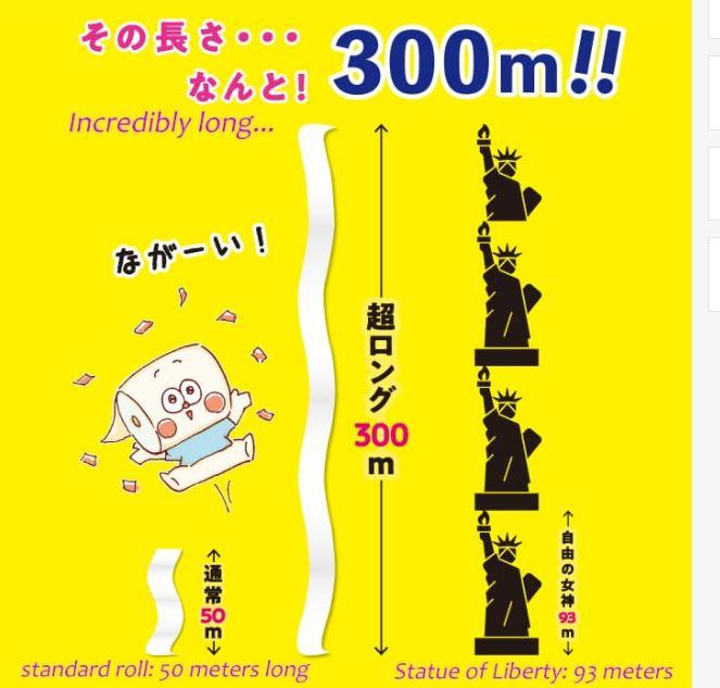 carta igienica lunga 300 metri