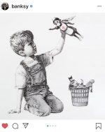 All'asta l'omaggio di Banksy